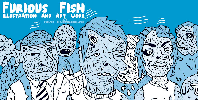Furious fish illustration and art work