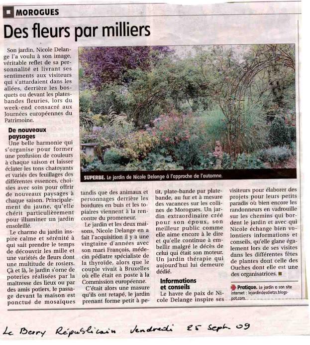 Le Berry républicain du 26/09/2009