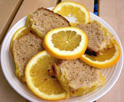 torta a fetta ciambellone all'arancia