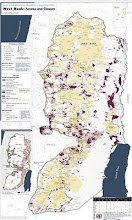 Karte Westjordanland