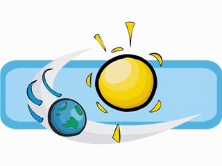 Earth Revolving around the Sun Clip Art