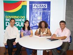 Vereador Edmundo da Rosa em Reunião com a Diretora Técnica do FGTAS Erli Terezinha dos Santos