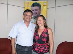 Vereador Edmundo da Rosa Recebe a visita da Radialista Nara Vargas