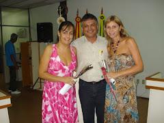 Vereador Edmundo da Rosa, Vereadora Cíntia Souza e Vereadora Catarina Vasconcelos