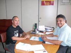 Visita de Juca Oliveira, Zelador do CAPS