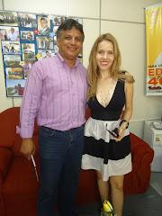 Visita ao Ver.Edmundo de atriz Global Rosariense