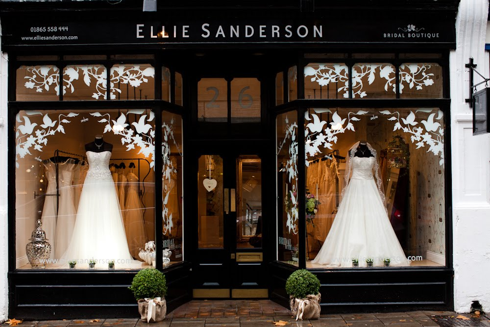 Ellie sanderson bridal boutique hummingbird card company for Best wedding dress shops