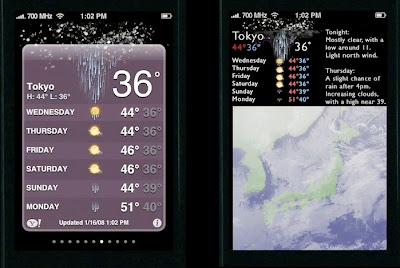 Tufte's redesigned iPhone weather app