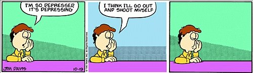 Garfield minus Garfield - Jon wants to shoot himself