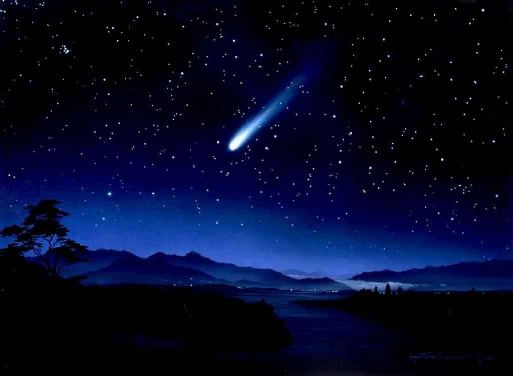 shooting star beautiful night - photo #41