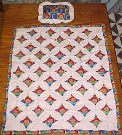 ScrapStitching & ScrapSewing: Cathedral Window What? How to make ... : paddington bear quilt - Adamdwight.com