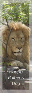 Lion king of the jungle fathers day bookmark