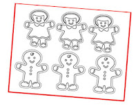 gingerbread cookie coloring ornaments