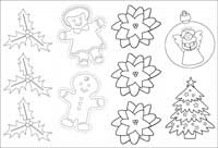 christmas bookmark gift tags coloring page