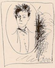 Rimbaud desenhado por Pablo Picasso