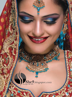 IndianBrideMakeupwwwShe9blogspotcom 4  - Make up  And Dress of the day 28 March 10