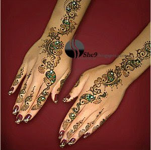 Arabi Mehndi Design for Full Arm