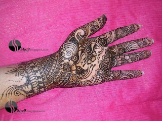 mehndi for Half arm 