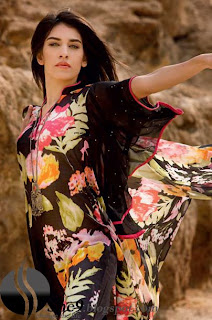 Gul+Ahmed+Stylish+Design+www.She9.blogspot.com More v neck and round neck shalwar kameez styles from Gul Ahmad