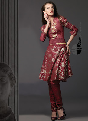 Beautiful Latest Churidar - Belt style Frock