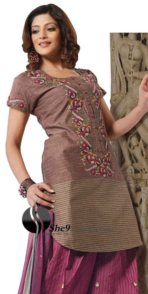 Dazzling Salwar Kameez Looking Beautiful With Gota Patti Style  This
