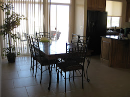 dining/kitchen area at condo