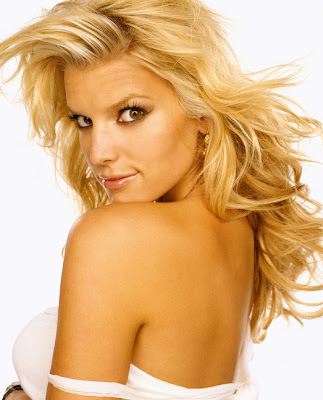 Jessica Simpson in Exclusive Golden Blonde Women Model Photo Shoot Session for Maxim Magazine 2004