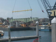 New old section of the Bridge of Lions moving into position