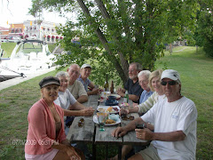 happy hour in Bobcageon.  I got into this pic--we corralled a passer-by to take it!