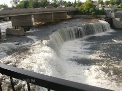 Fenelon Falls.  Very pretty, and waaay more water than Healey Falls!