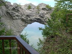 The Arch Rock on Mackinaw Island