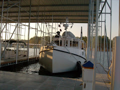 Bay Springs Marina, MS. The first time YA has had a roof over her dinghy.