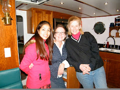 Rashmi, Carol and me. We had a great visit aboard both boats!
