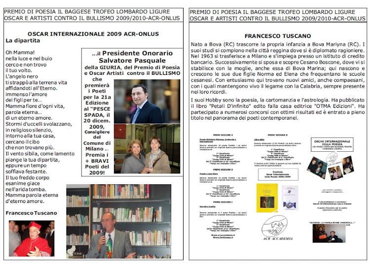 Premiazione dell'OSCAR e ARTISTI contro il BULLISMO e per la RICERCA SOLIDALE!
