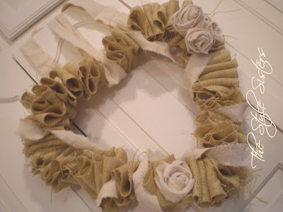 Burlap heart wreath, Valentine ruffle wreath, burlap wreath, front door wreath, valentine decor