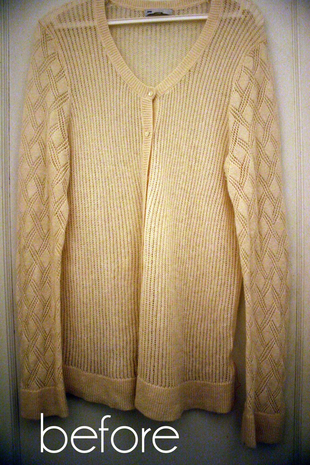 Как из пуловера сделать кардиган