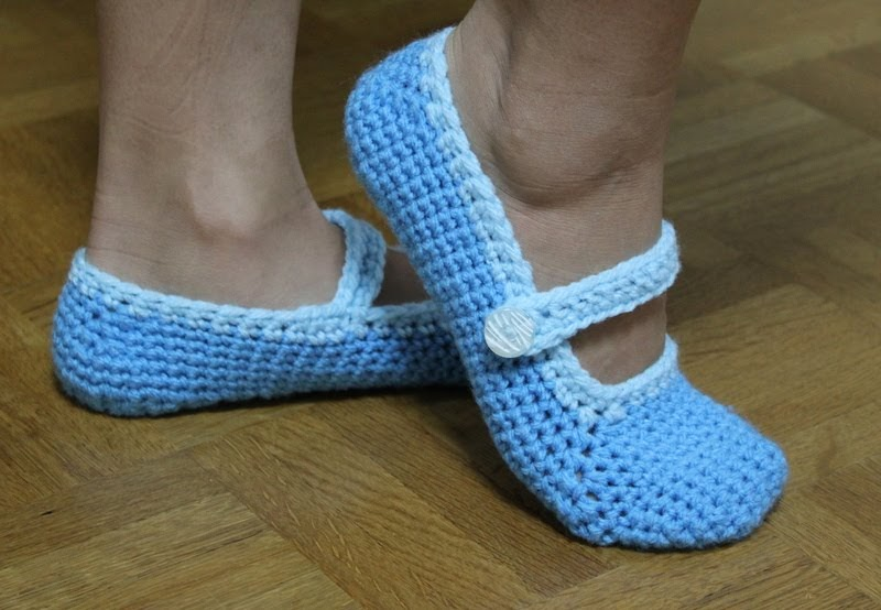 Casual Crafting Journal: Crochet Mary Jane Slippers