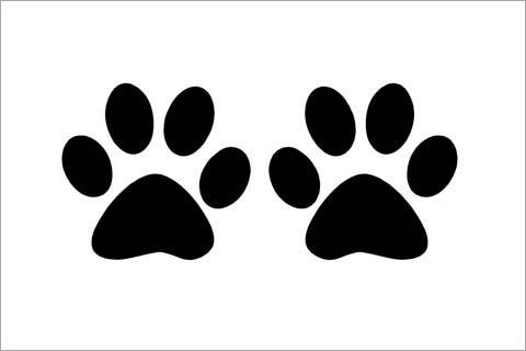 Huella de perro para colorear - Imagui