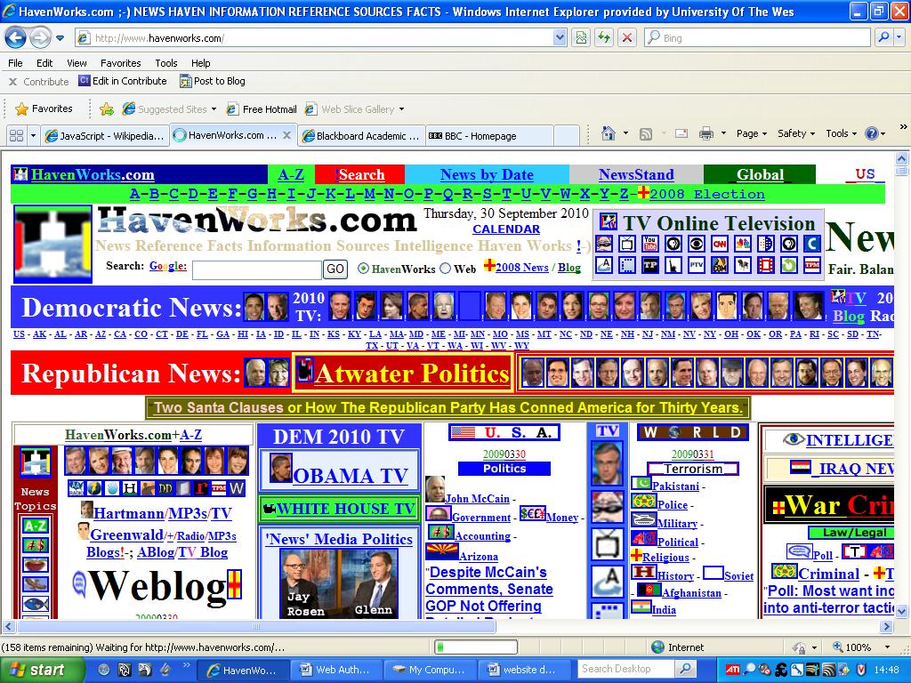 Web authoring and design bad website design for Blueprint website design