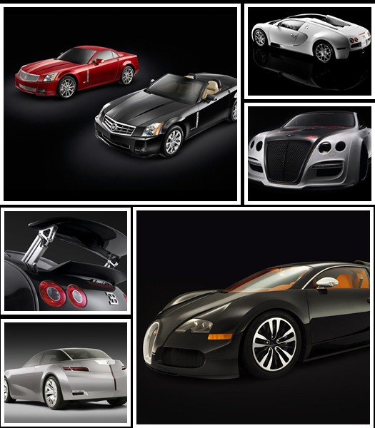 Cars on Black Background Wallpapers Pack