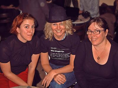 Petra, Lotten och Anna.