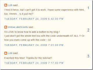 Comentário numerados no Blogger