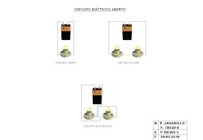 LAMPARAS 1º C: Circuito eléctrico abierto
