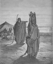 Expulsion of Hagar & Ishmael to the desert