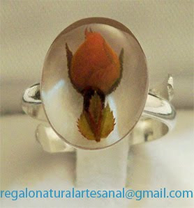 anillo ajustable rosa koster natural plata