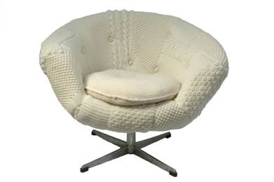 melanie porter hand knitted chair
