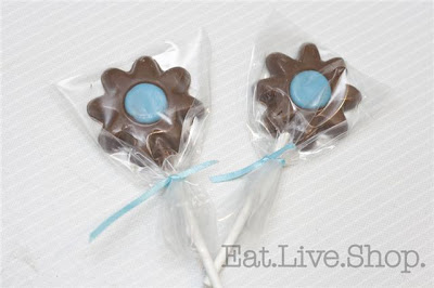 chocolate flower lollipops
