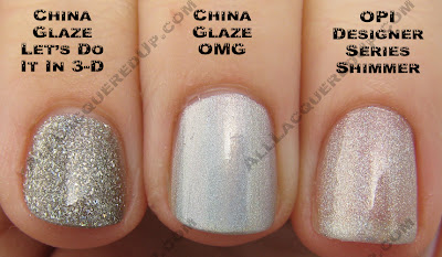 3dprism China Glaze OMG 2BKEWL Comparisons