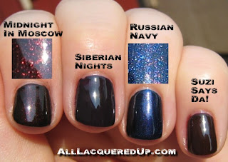 OPI Russian Collection Swatches : All Lacquered Up