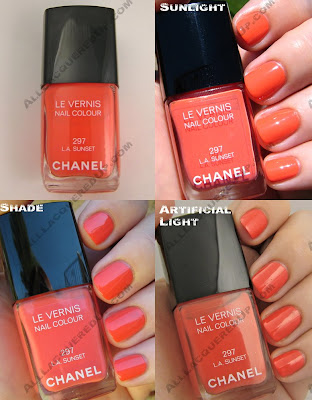 chanel, robertson boulevard, nail polish, nail lacquer, la sunset, orange, melon, nail colour